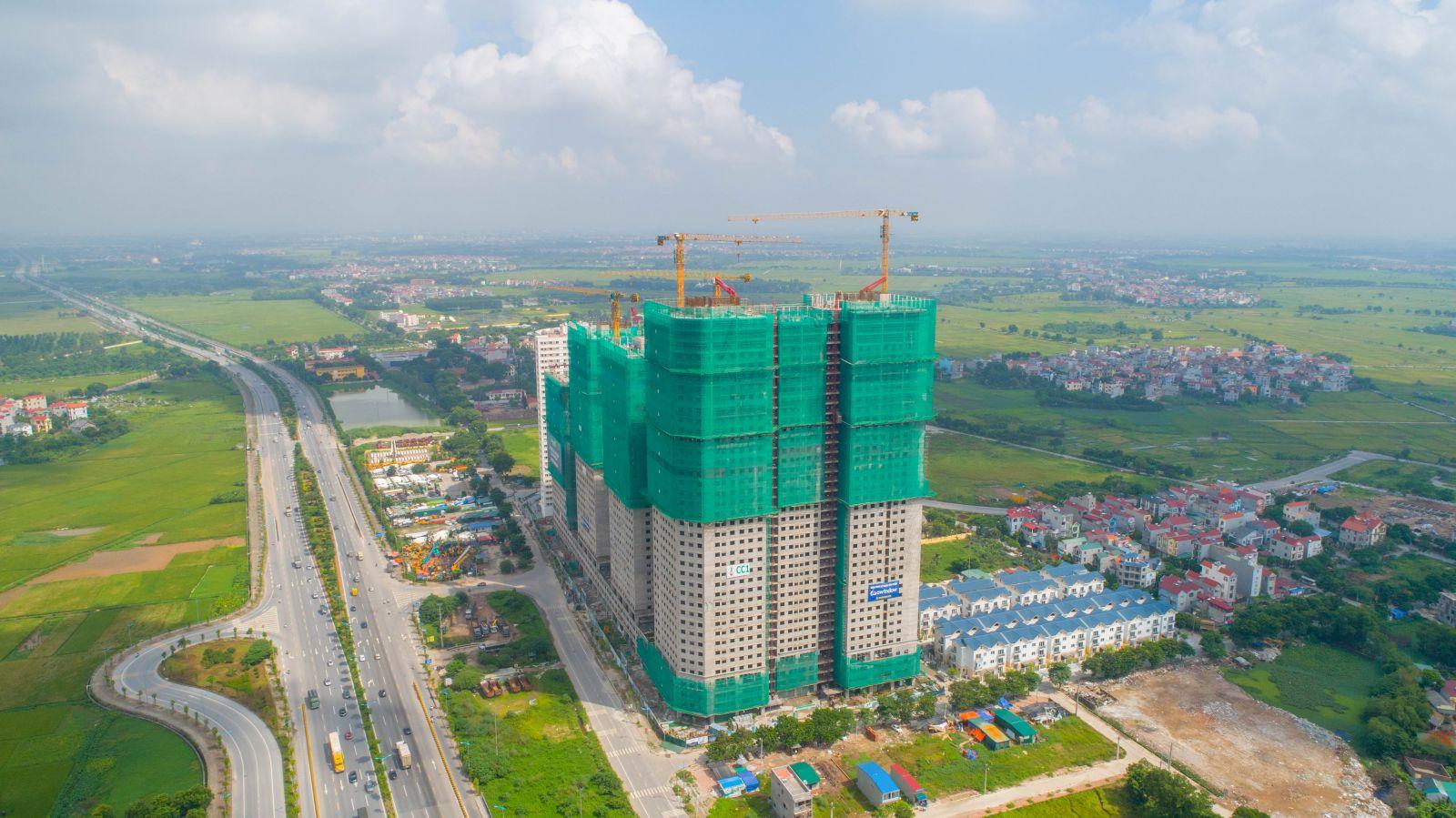 tiến độ xây dựng tòa euro river tower