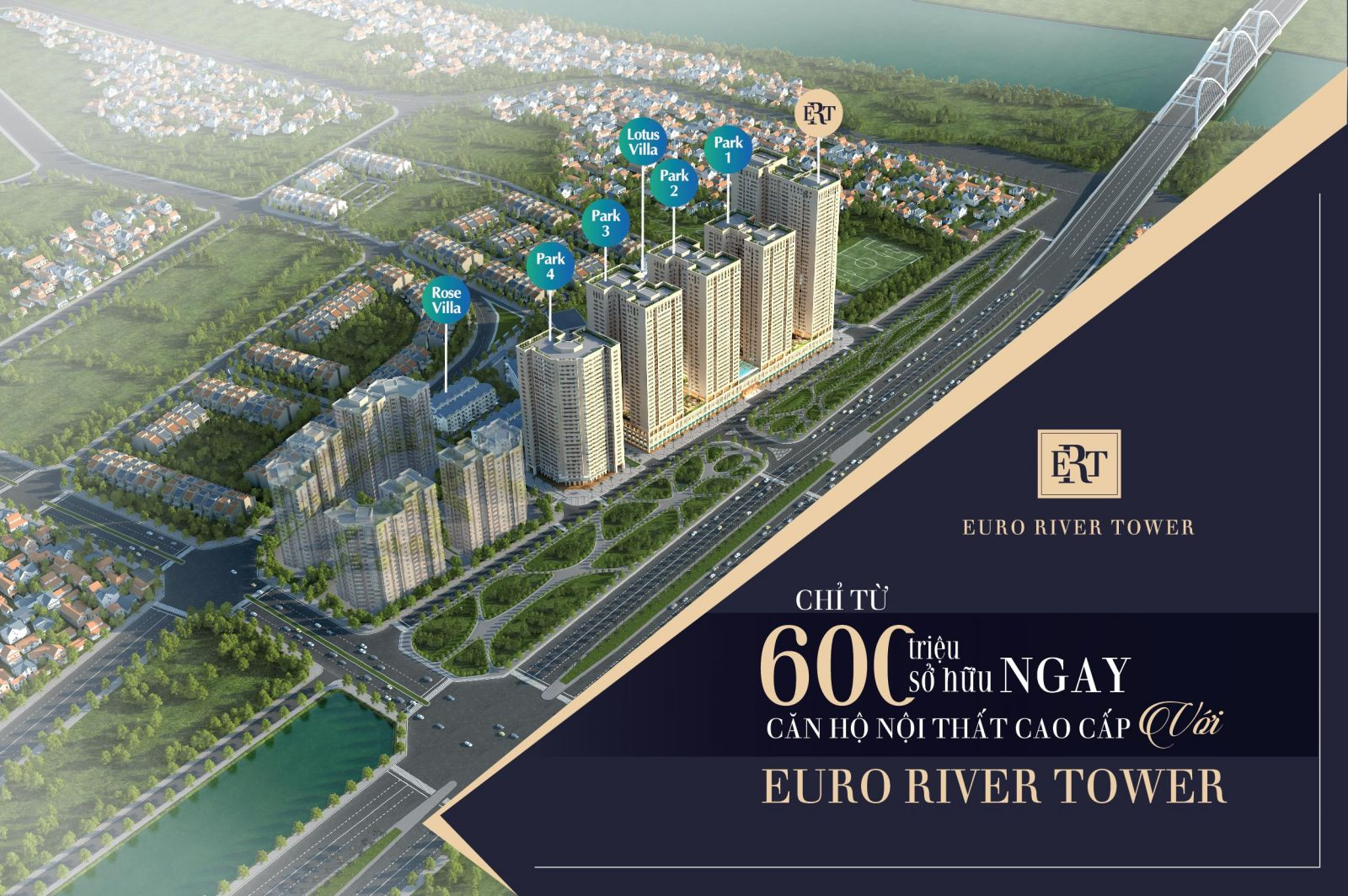 Euro River Tower đông trù